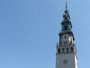 Jasna Góra widok wieży Jasnej Gory Polska Pątnicza